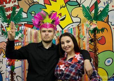 Гавайська вечірка історичного факультету у молодіжному центрі Кузня української інтелігенції