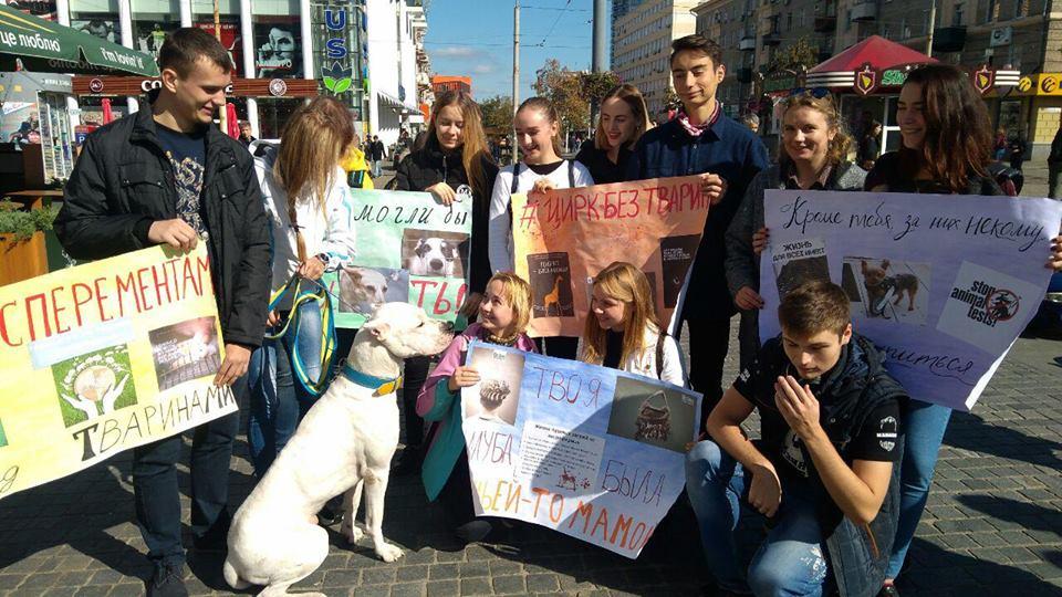 Студенти-історики на марші за права тварин
